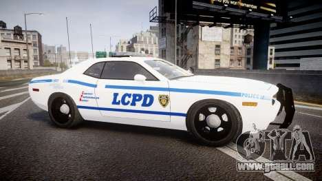 Dodge Challenger LCPD [ELS] for GTA 4 left view