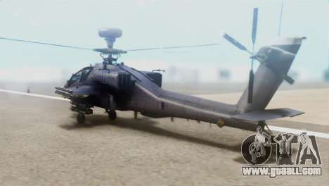 AH-64D Apache Longbow for GTA San Andreas left view