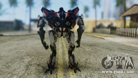 Starscream Skin from Transformers v1 for GTA San Andreas second screenshot