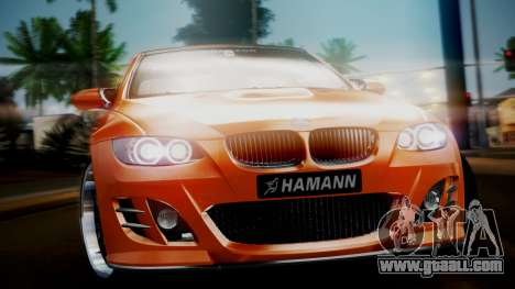 BMW M3 E92 Hamman for GTA San Andreas back left view