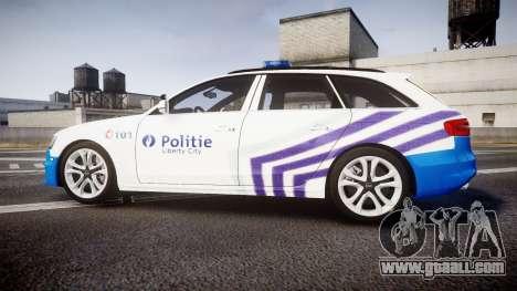 Audi S4 Avant Belgian Police [ELS] for GTA 4 left view