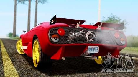 Pegassi Infernus Cento Miglia for GTA San Andreas left view