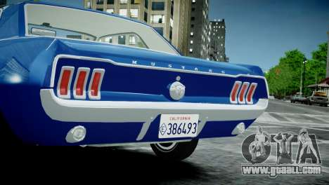 Ford Mustang 1967 for GTA 4 right view