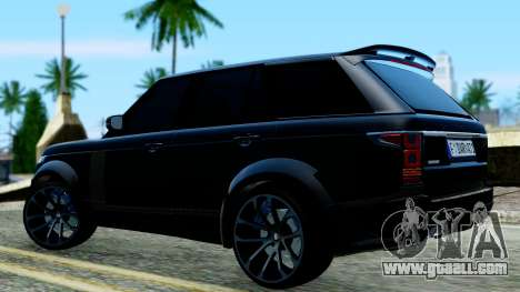 Range Rover Vogue Lumma Stratech for GTA San Andreas back left view