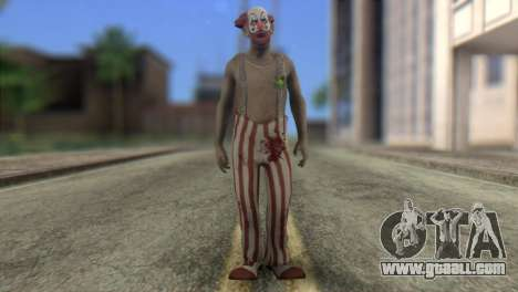 Zombie Clown from Left 4 Dead 2 for GTA San Andreas