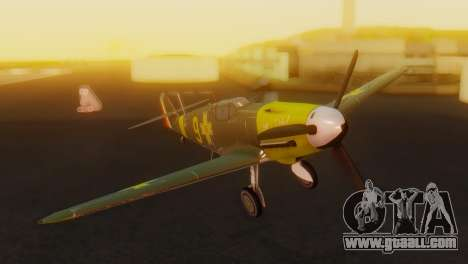 Messerschmitt Bf-109 E3 for GTA San Andreas back view
