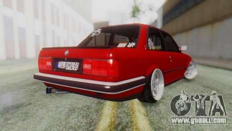 BMW M3 E30 B. O. Construction for GTA San Andreas left view