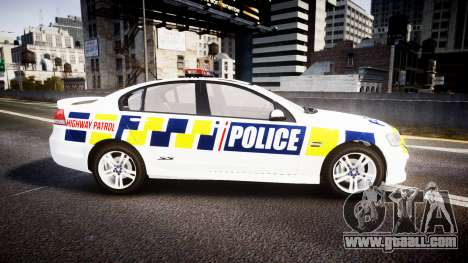 Holden VE Commodore SS Police HWP [ELS] for GTA 4 left view