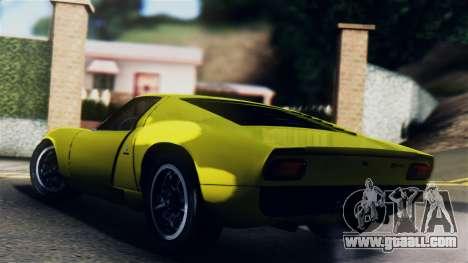 Lamborghini Miura P400 1967 for GTA San Andreas left view