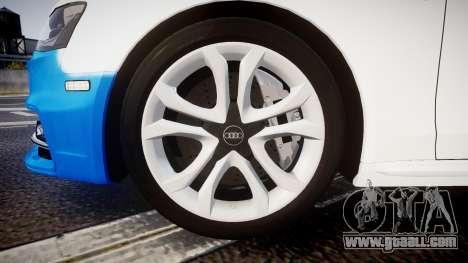 Audi S4 Avant Belgian Police [ELS] for GTA 4 inner view