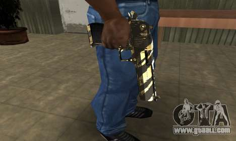 Gold Lines Deagle for GTA San Andreas