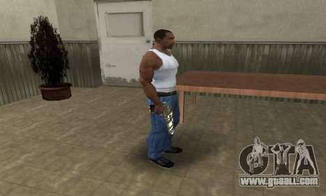 Gold Lines Deagle for GTA San Andreas third screenshot