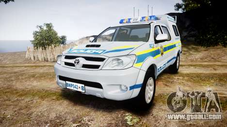 Toyota Hilux 2010 South African Police [ELS] for GTA 4