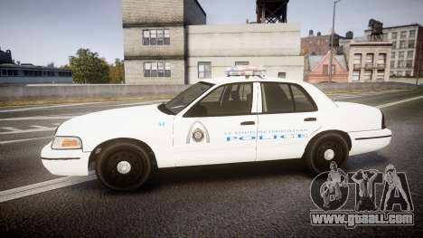 Ford Crown Victoria Metropolitan Police [ELS] for GTA 4 left view