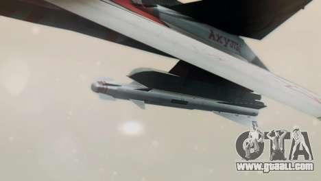 T-50 PAK-FA -Akula- for GTA San Andreas back left view