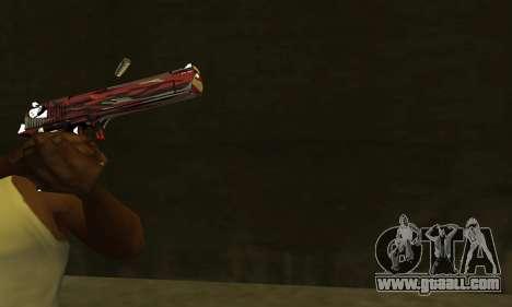 Red Puma Deagle for GTA San Andreas second screenshot