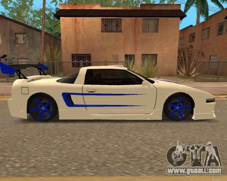 Infernus Skin for GTA San Andreas back left view