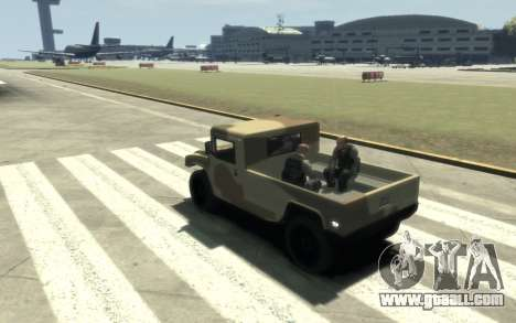 GTA 5 Millitary Patriot for GTA 4 back view