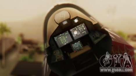 T-50 PAK-FA -Akula- for GTA San Andreas back view