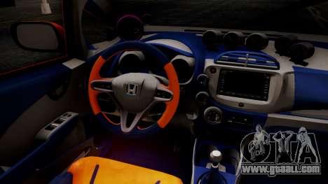Honda Fit Street Modify Inori Yuzuriha Itasha for GTA San Andreas right view