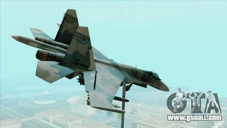 Sukhoi SU-35BM Mobius Squadron for GTA San Andreas left view