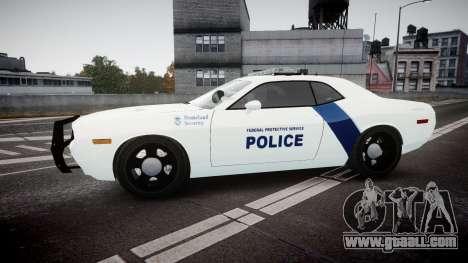 Dodge Challenger Homeland Security [ELS] for GTA 4 left view