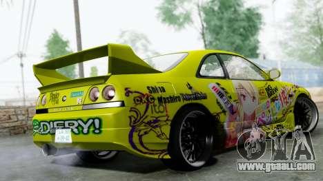 Nissan Skyline R33 Shiina Mashiro Itasha for GTA San Andreas left view