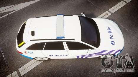 Audi S4 Avant Belgian Police [ELS] for GTA 4 back view