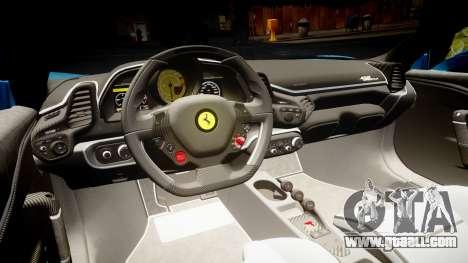 Ferrari 458 Speciale 2014 for GTA 4 inner view