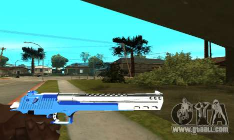 Blue Cool Deagle for GTA San Andreas third screenshot
