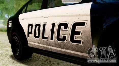 GTA 5 Vapid Police Interceptor v2 IVF for GTA San Andreas right view
