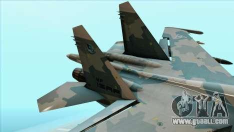 Sukhoi SU-35BM Mobius Squadron for GTA San Andreas back left view