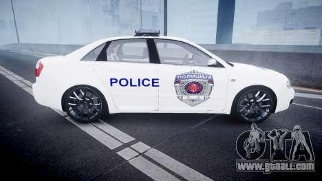 Audi S4 Serbian Police [ELS] for GTA 4 left view