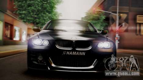 BMW M3 E92 Hamman for GTA San Andreas inner view