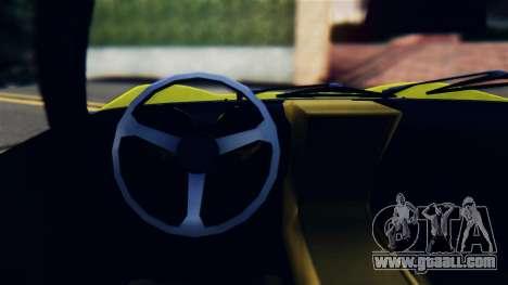 Lamborghini Miura P400 1967 for GTA San Andreas inner view