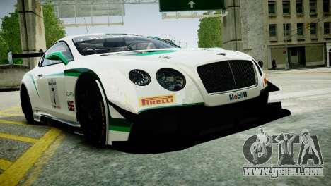 Bentley Continental GT3 2014 for GTA 4