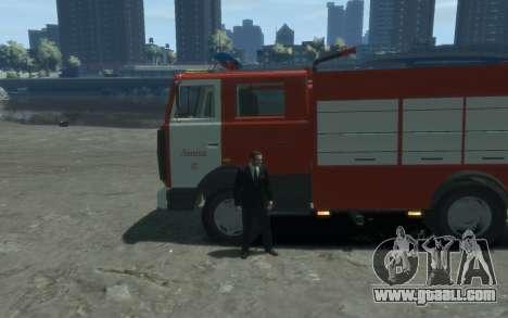 MAZ 533702 Fire Lipetsk for GTA 4 left view