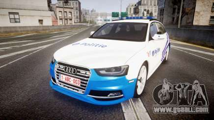 Audi S4 Avant Belgian Police [ELS] for GTA 4