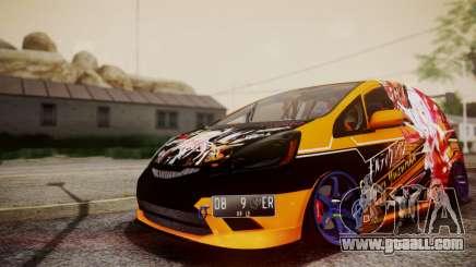 Honda Fit Street Modify Inori Yuzuriha Itasha for GTA San Andreas