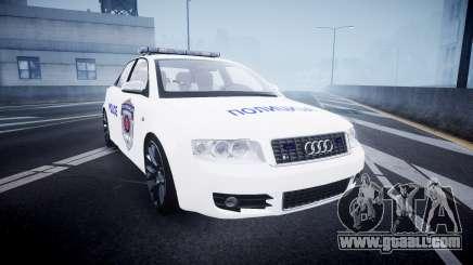 Audi S4 Serbian Police [ELS] for GTA 4