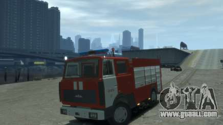 MAZ 533702 Fire Lipetsk for GTA 4