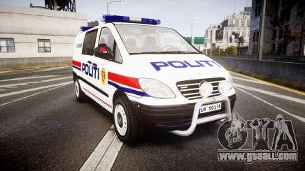 Mercedes-Benz Vito 2014 Norwegian Police [ELS] for GTA 4