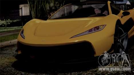 GTA 5 Progen T20 IVF for GTA San Andreas back view