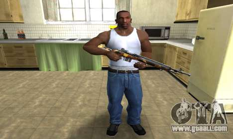 Gold Rifle for GTA San Andreas third screenshot