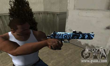 Blue Snow Deagle for GTA San Andreas second screenshot
