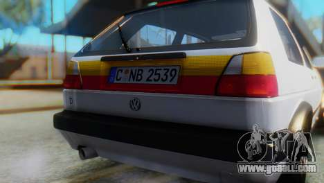 Volkswagen Golf 2 for GTA San Andreas back view