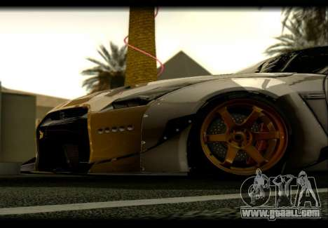 Nissan GTR-R35 Rocket Bunny for GTA San Andreas back left view