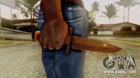 Combat Knife for GTA San Andreas third screenshot