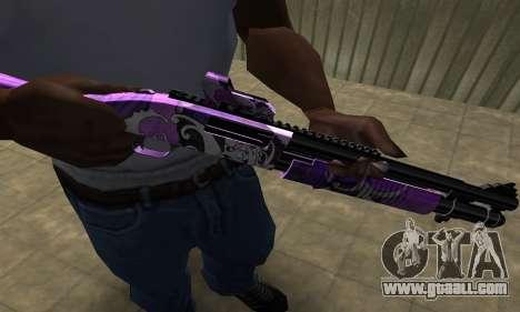 Purple World Shotgun for GTA San Andreas