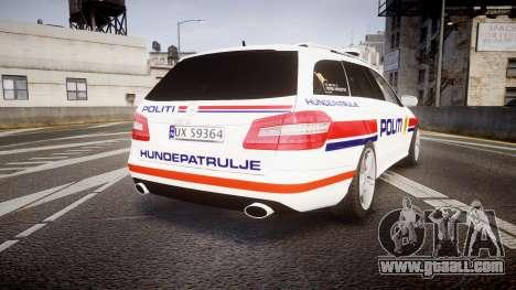 Mercedes-Benz E63 AMG Estate 2012 Police [ELS] for GTA 4 back left view